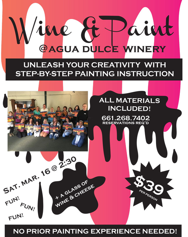 Wine and Paint March 16