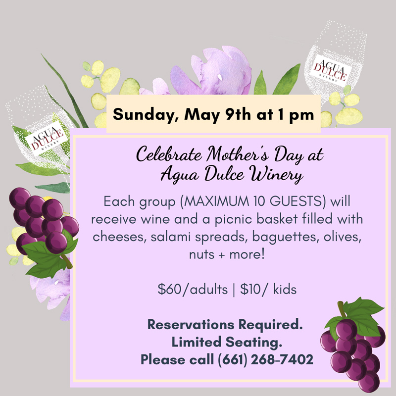 Mother's Day at Agua Dulce Winery